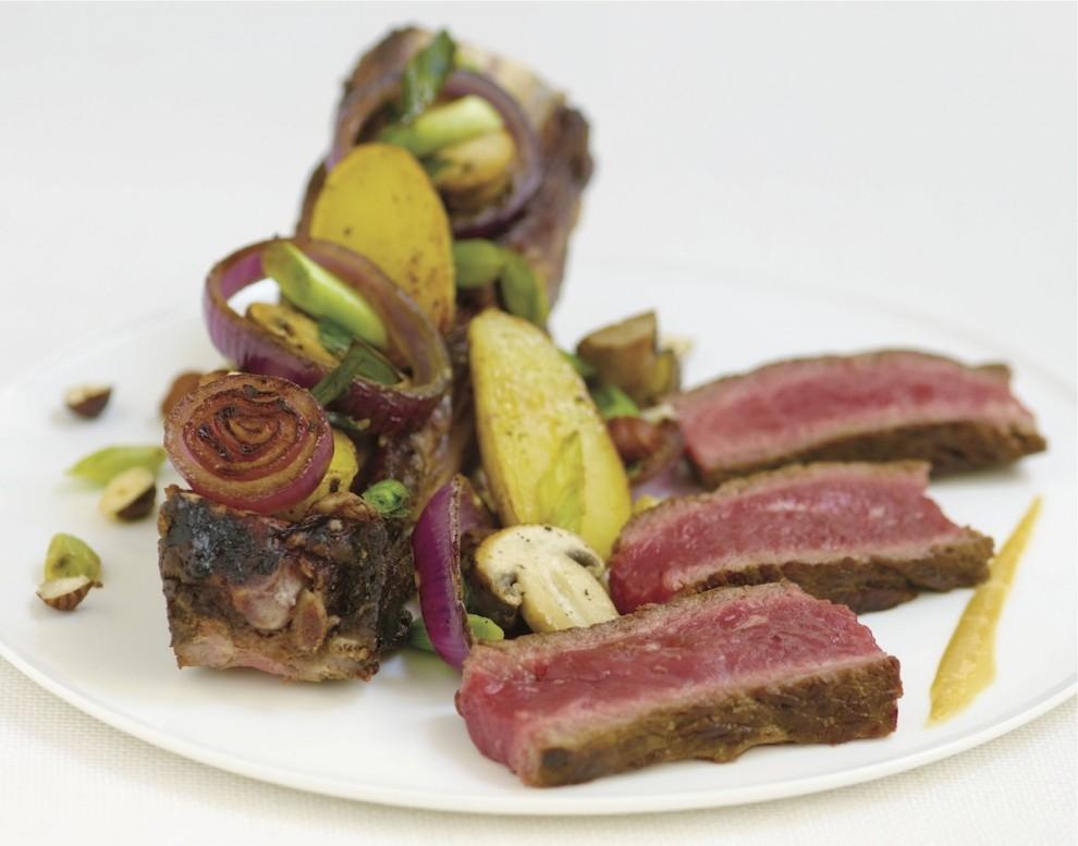 Vin et Côte de bœuf grillée
